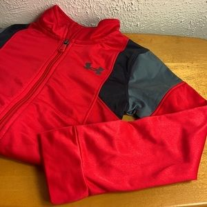 Under Armour 🥅 Boys Size 6 Red Track Jacket NWOT